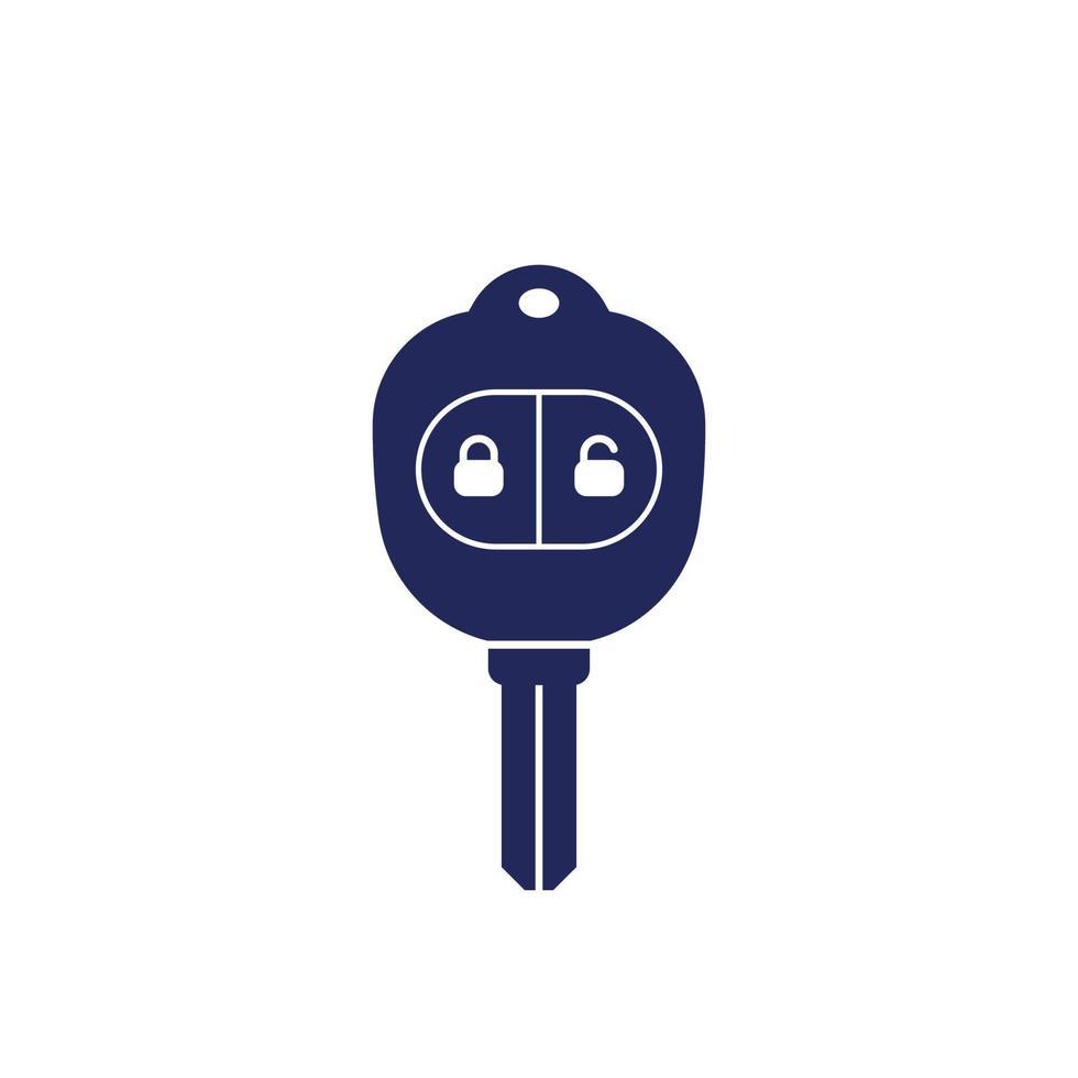 chave do carro com ícone de alarme em white.eps vetor