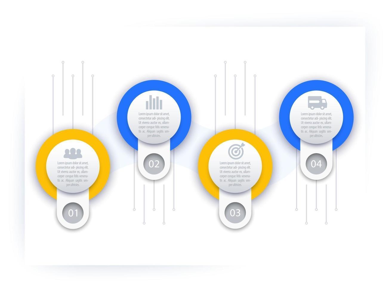 infográficos de negócios, modelo de linha do tempo, vector.eps vetor