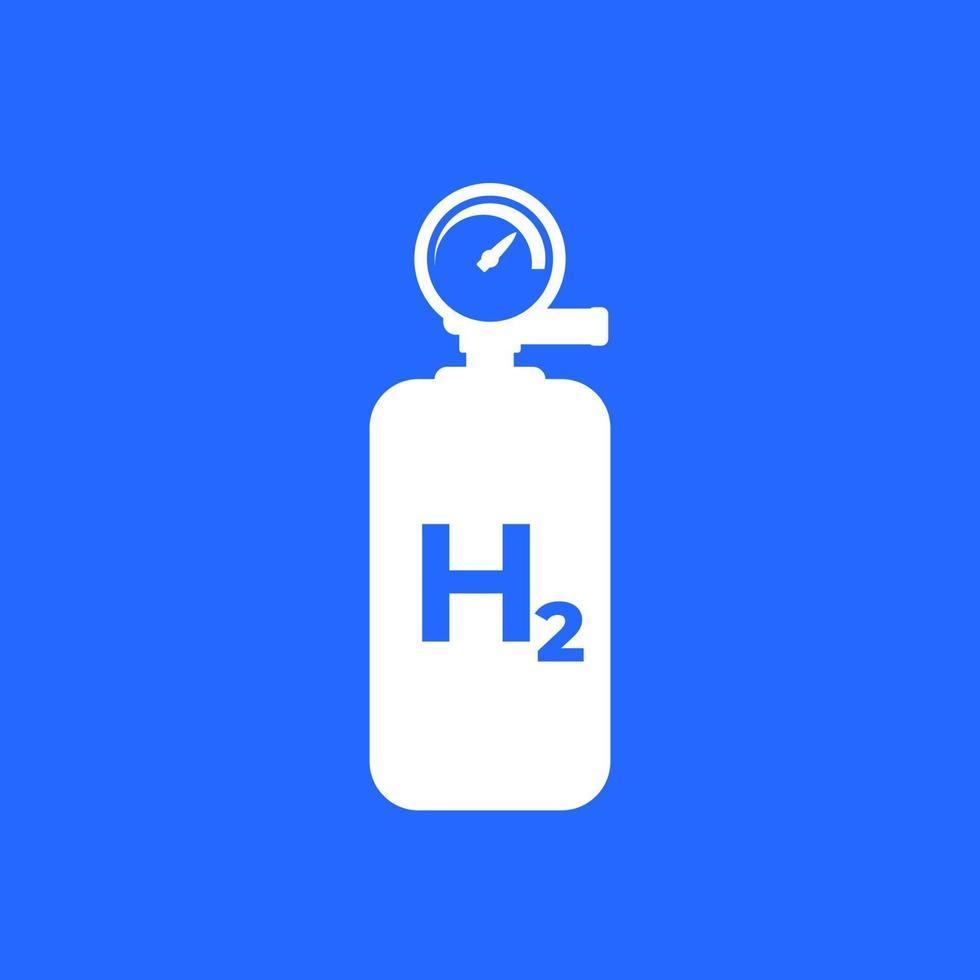 tanque de hidrogênio, ícone do cilindro, vector.eps vetor