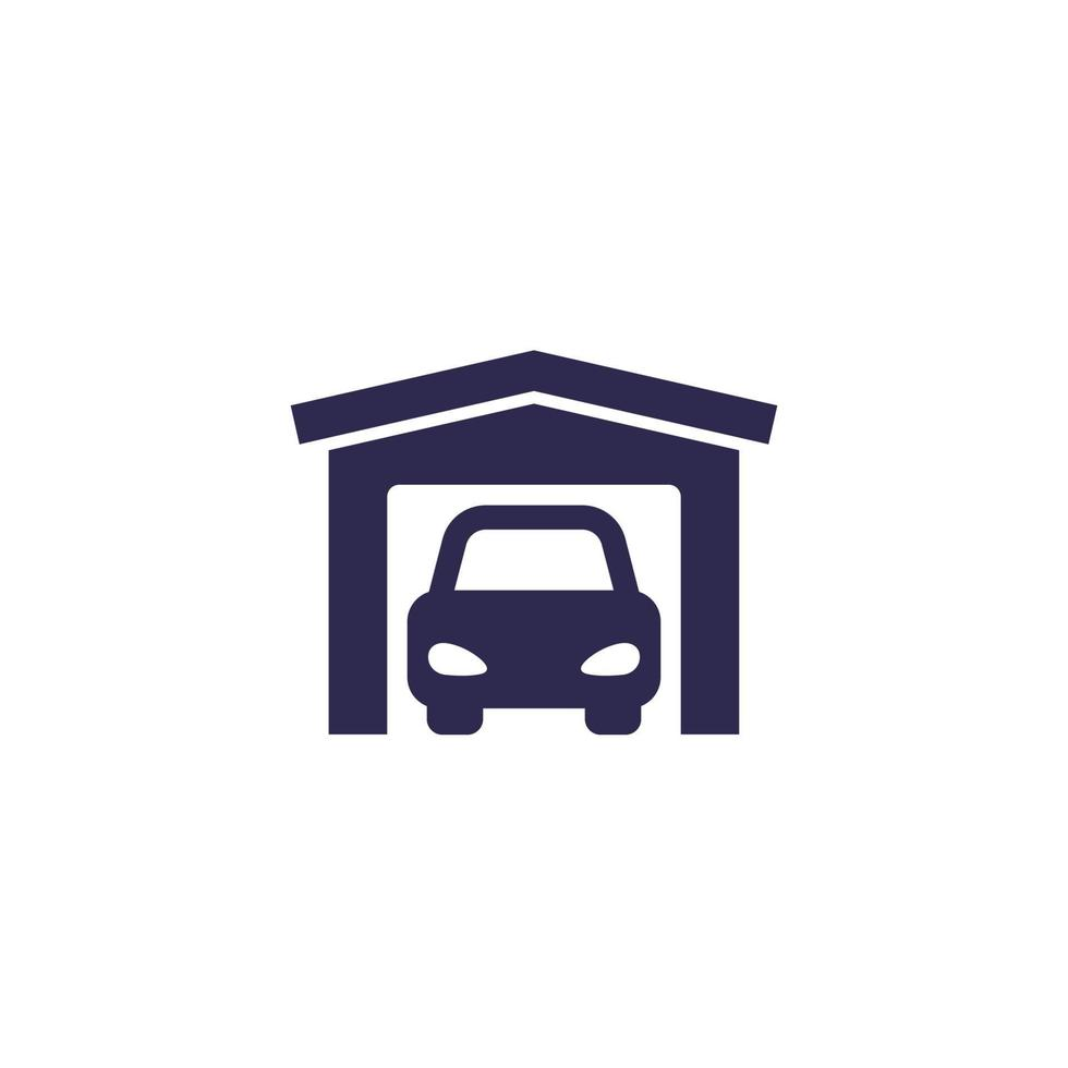 ícone de garagem em branco, vector.eps vetor