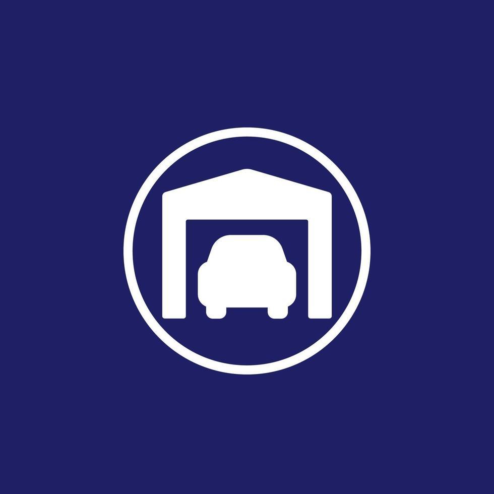 garagem e carro, vetor icon.eps