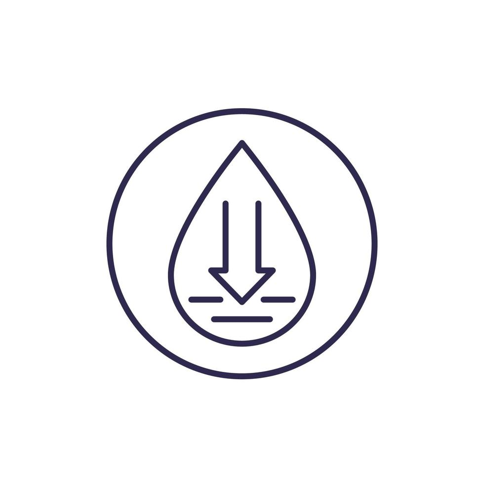 linha de vetor de baixo nível de água icon.eps