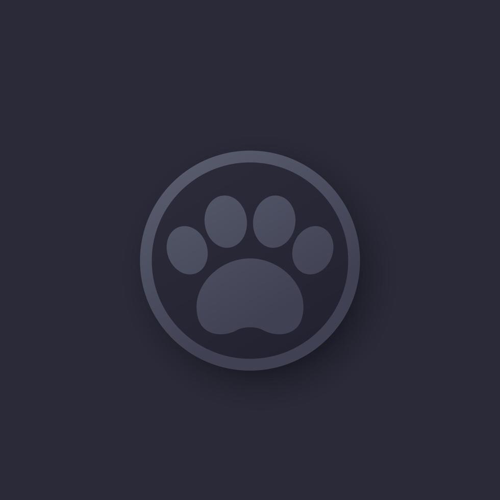 ícone de pata, logotipo de vetor para app.eps