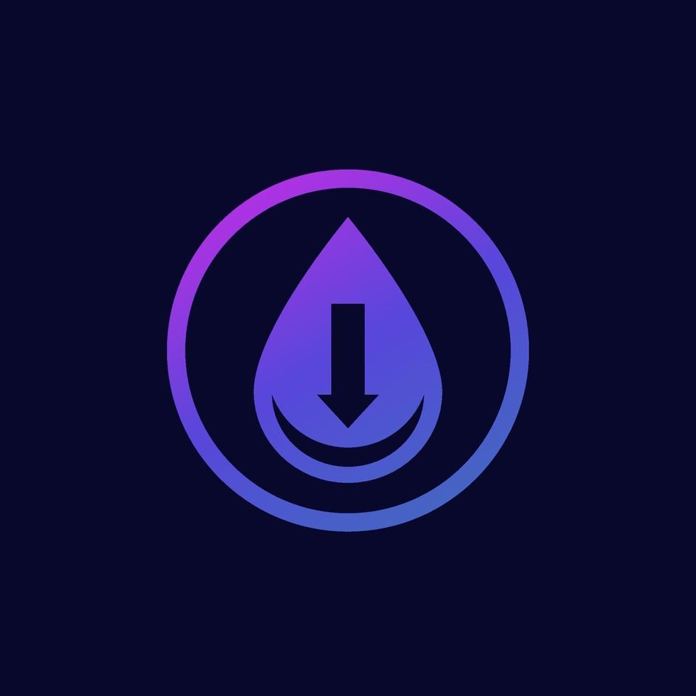 vetor icon.eps de baixo nível de água