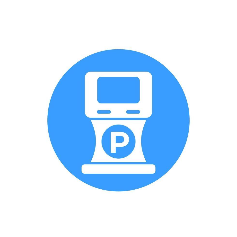 ícone de máquina de estacionamento, vetor sign.eps
