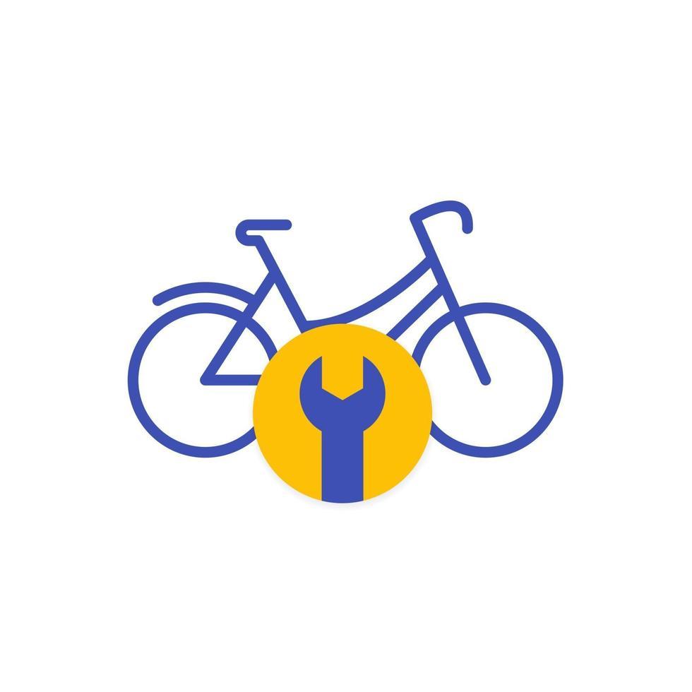logotipo do serviço de conserto de bicicletas, vector.eps vetor