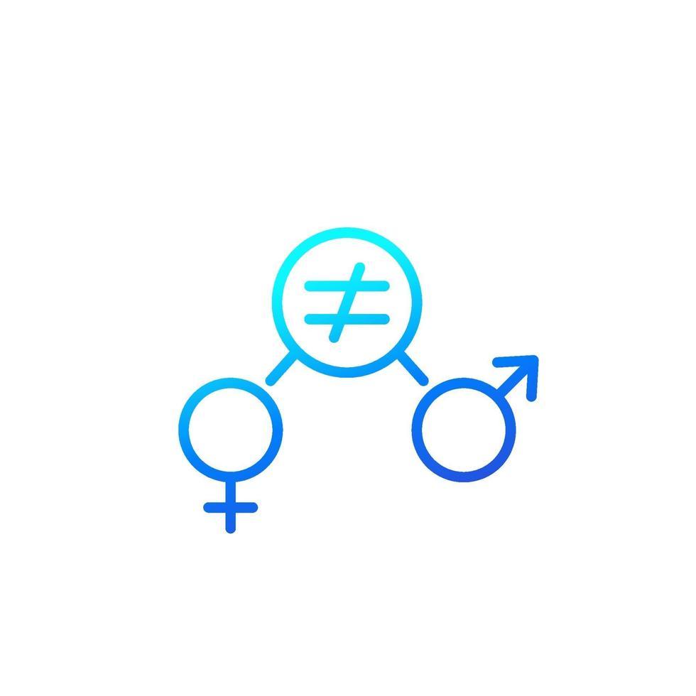 ícone de equidade de gênero, esboço vector.eps vetor