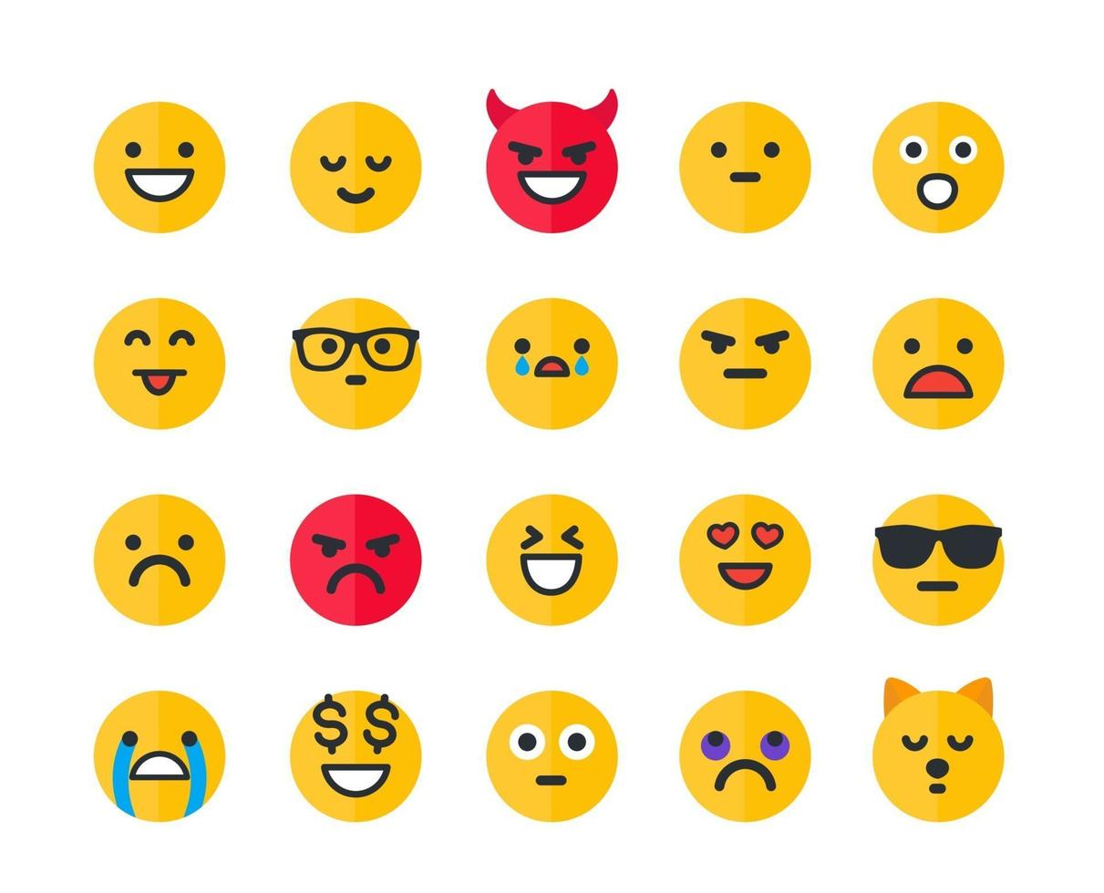 emoticons, ícones de vetor emoji set.eps