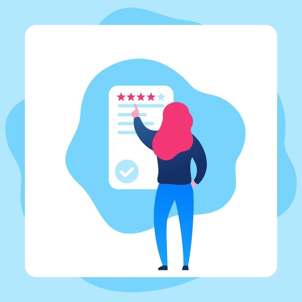 ícone de vetor de feedback com um girl.eps