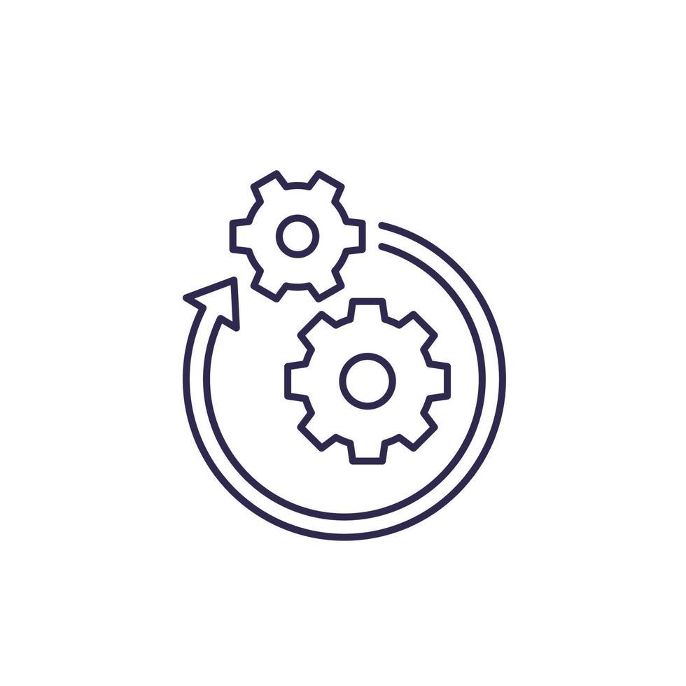 operação, ícone do projeto, linha vector.eps vetor