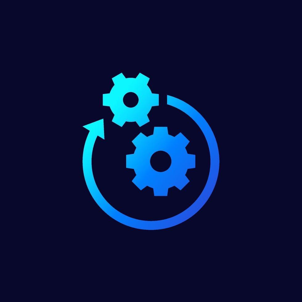 operação ou ícone do projeto, vector.eps vetor