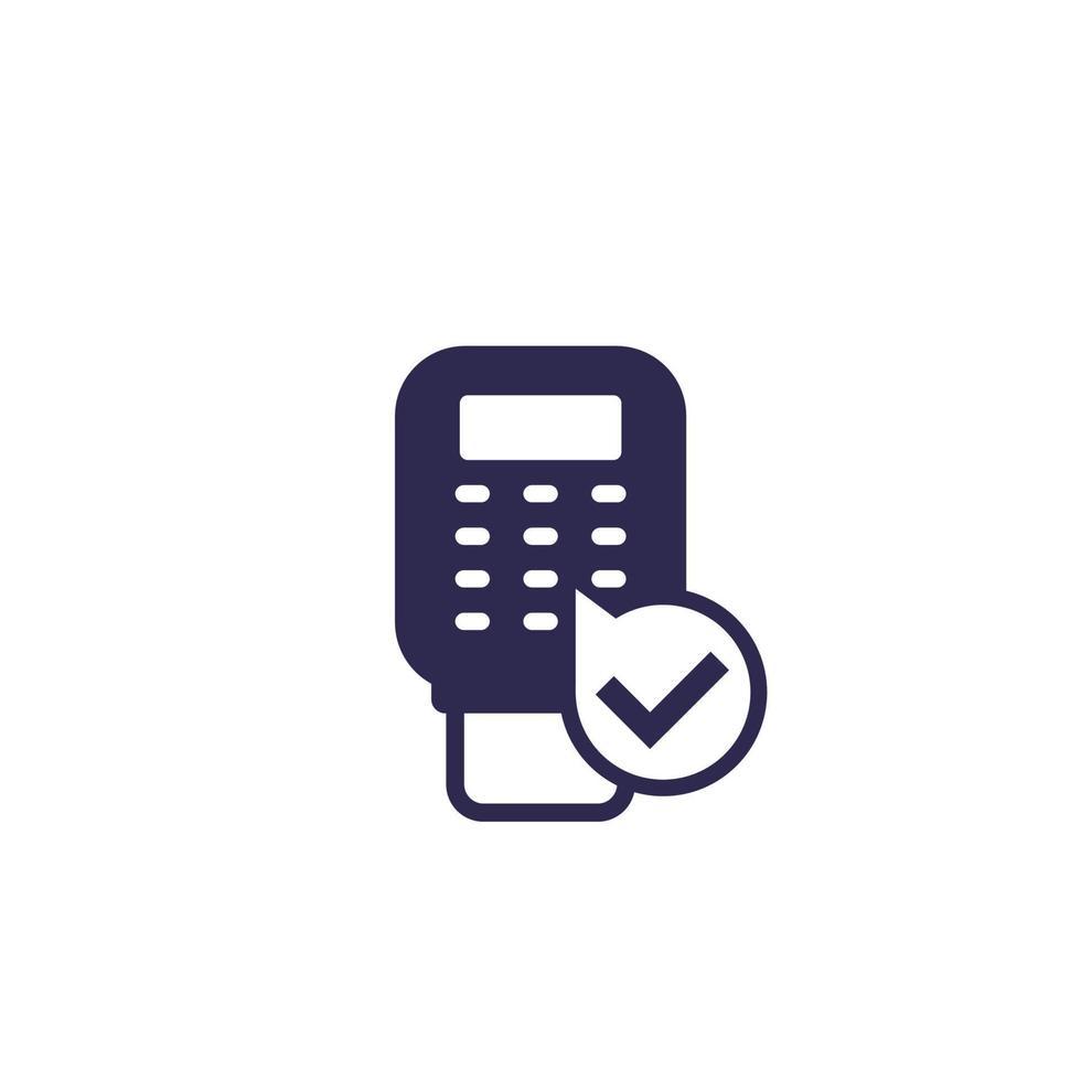 ícone de terminal de pagamento pos, vector.eps vetor