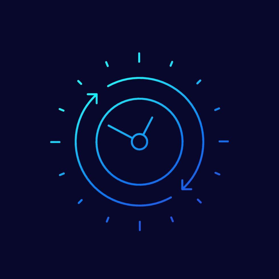ícone de duração, linha fina vector.eps vetor