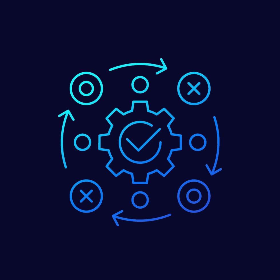 gerenciamento de projetos thin line icon.eps vetor