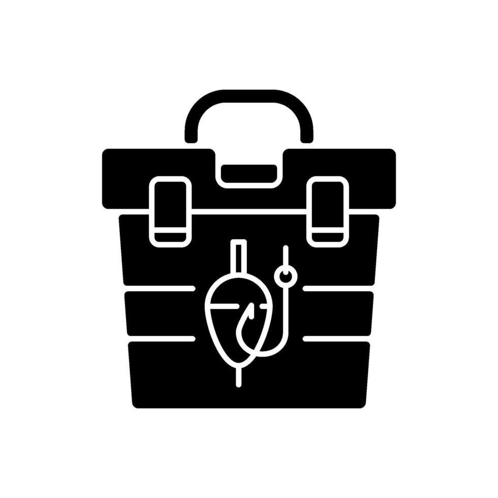 ícone de glifo preto do tackle box vetor