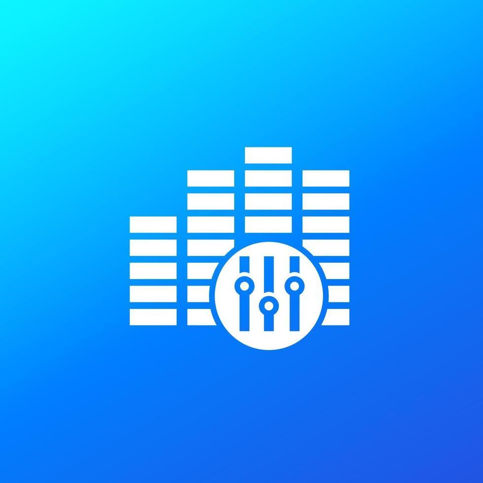 ícone do editor de áudio para aplicativos e web.eps vetor