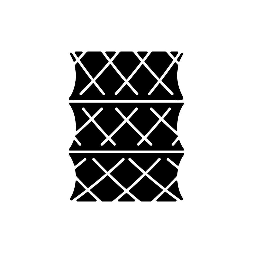 ícone de glifo preto de armadilha para peixes vetor