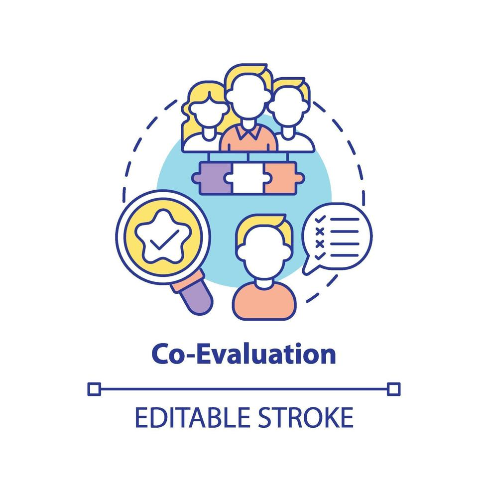 ícone do conceito de co-avaliação vetor