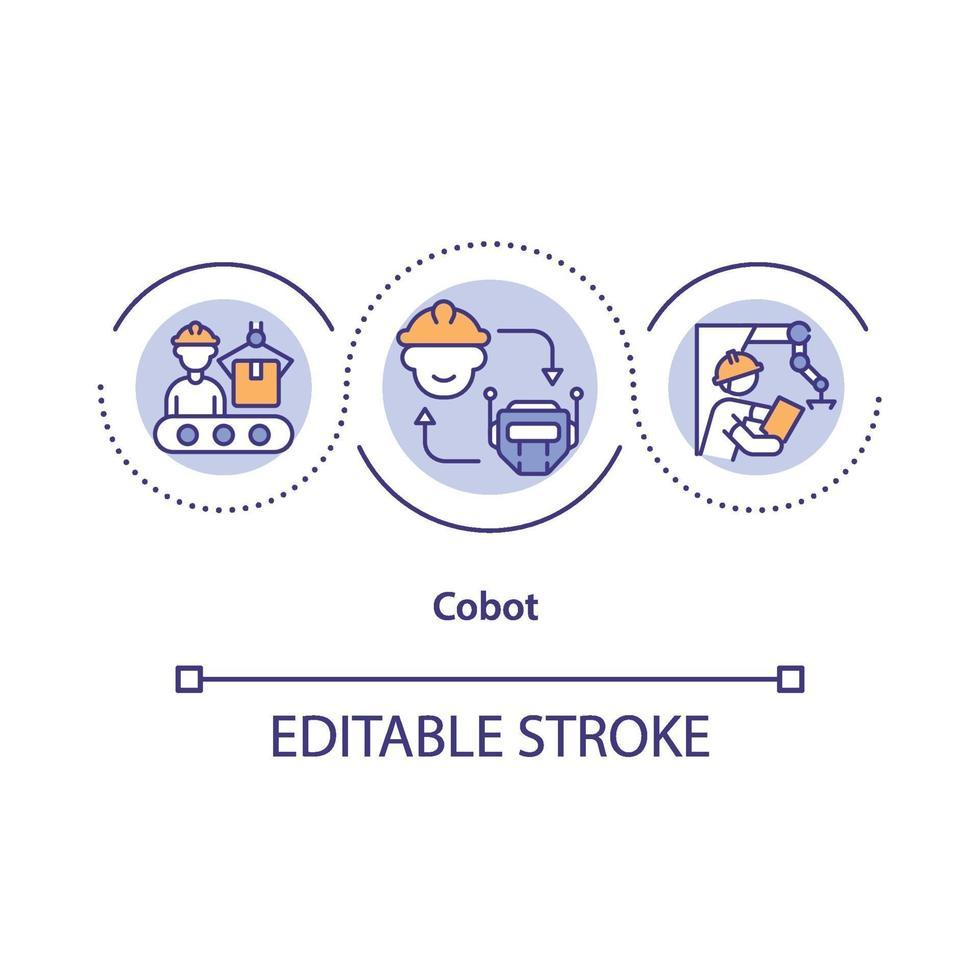 ícone do conceito de robô colaborativo vetor