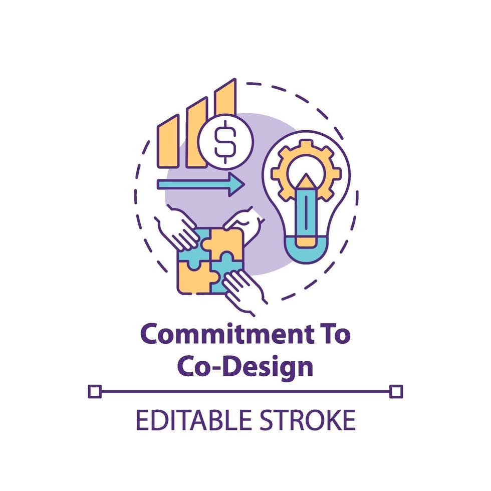 compromisso com o ícone do co-design vetor