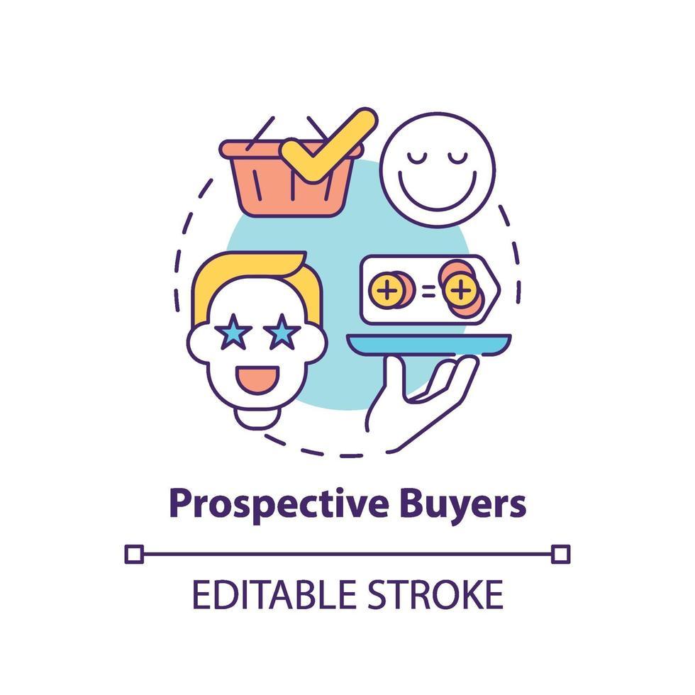ícone do conceito de compradores em potencial vetor
