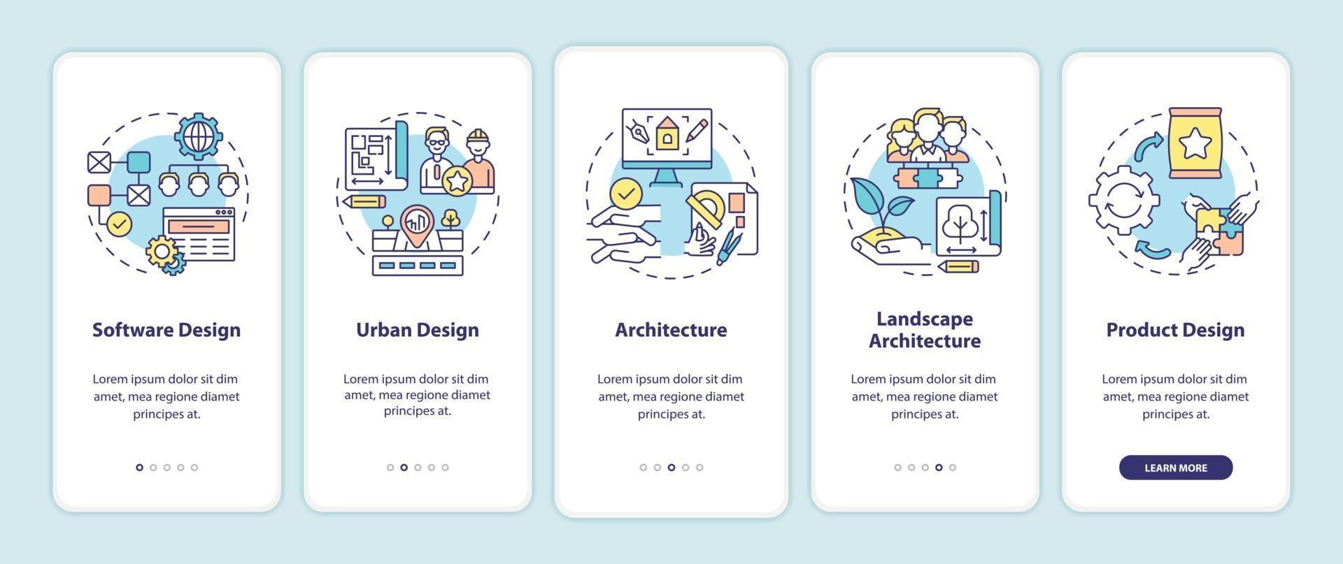 co-projete campos de aplicativos integrando tela de página de aplicativo móvel com conceitos vetor