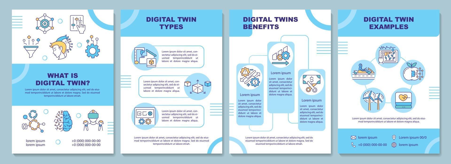 modelo digital de brochura dupla vetor