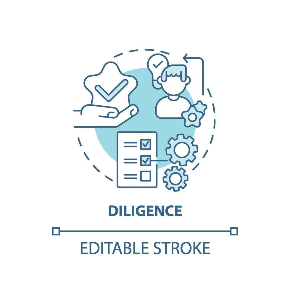 ícone do conceito de diligência vetor