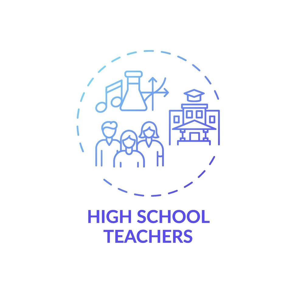 ícone do conceito de professores do ensino médio vetor