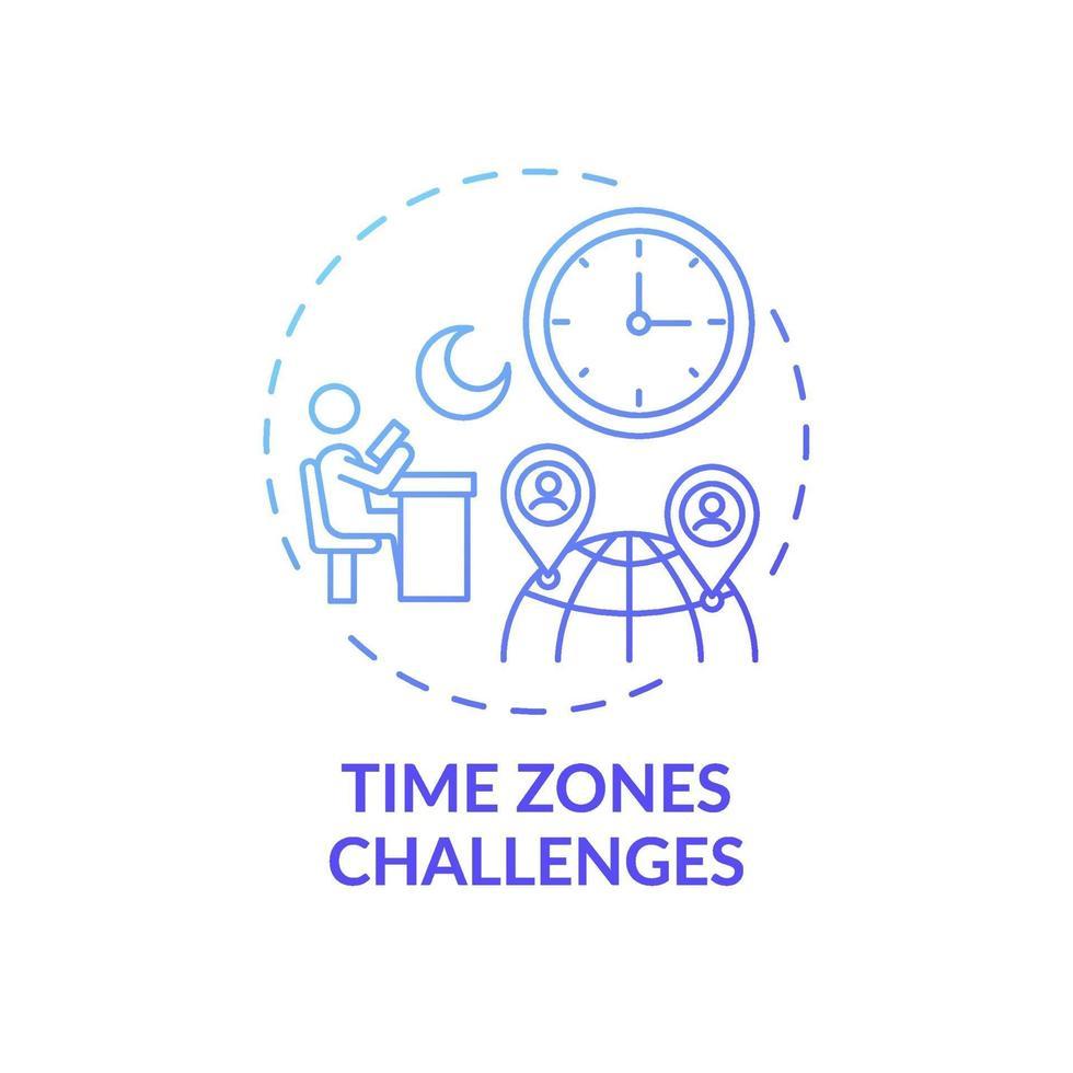 ícone de conceito de desafios de fuso horário vetor