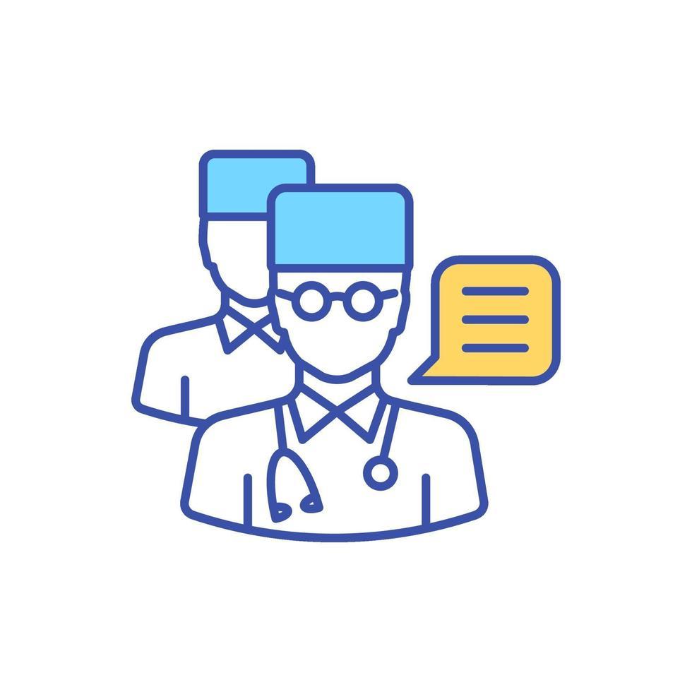 ícone da segunda opção médica rgb vetor