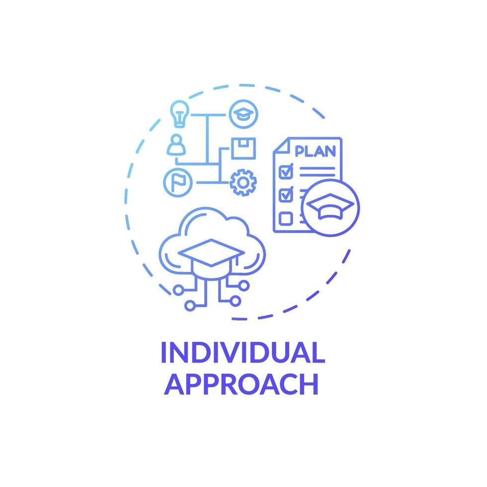 ícone do conceito de abordagem individual vetor
