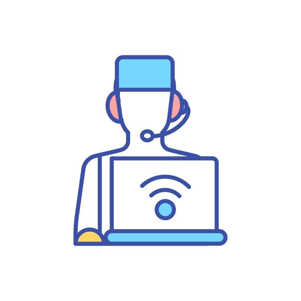 ícone de cor rgb de medicina interativa vetor