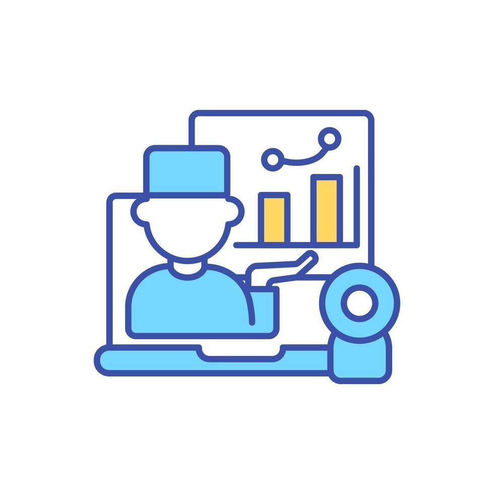 ícone de cor rgb de registro eletrônico de saúde vetor