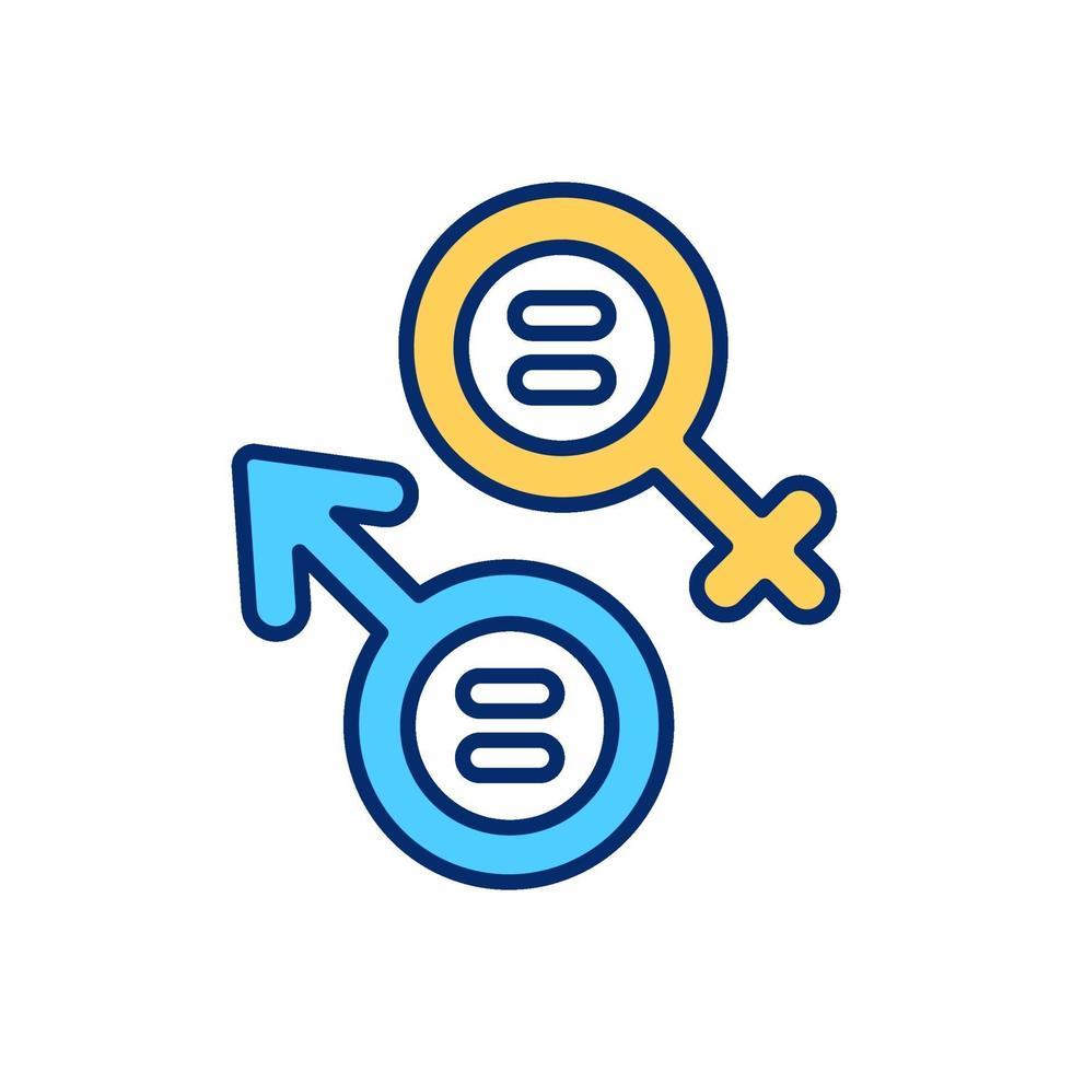 cisgender ícone de cor rgb vetor