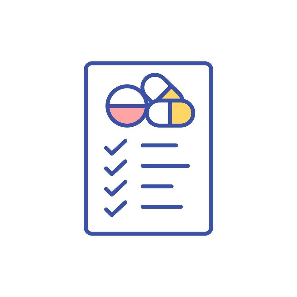 ícone de cor rgb de gerenciamento de medicamentos vetor