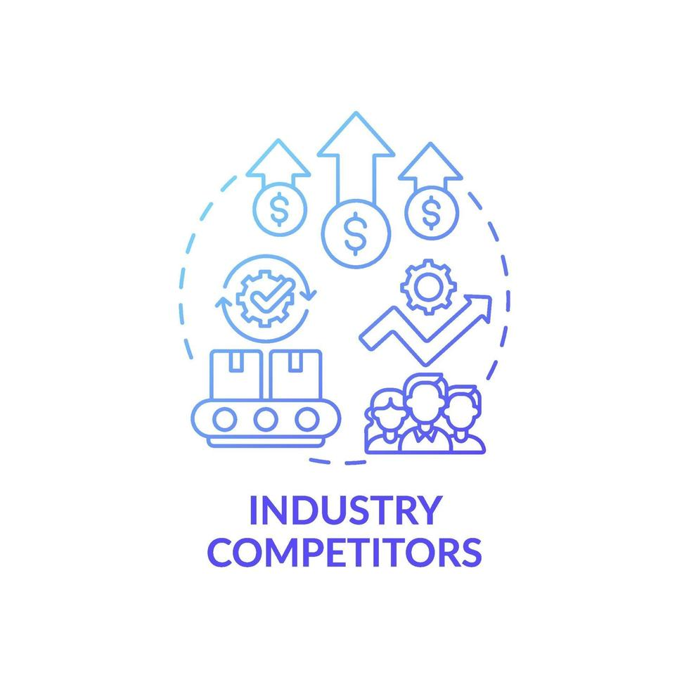 ícone do conceito de concorrentes da indústria vetor