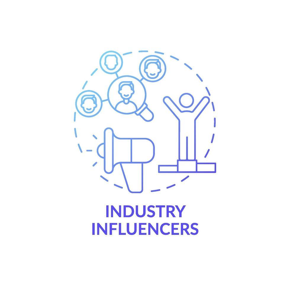 ícone do conceito de influenciadores da indústria vetor