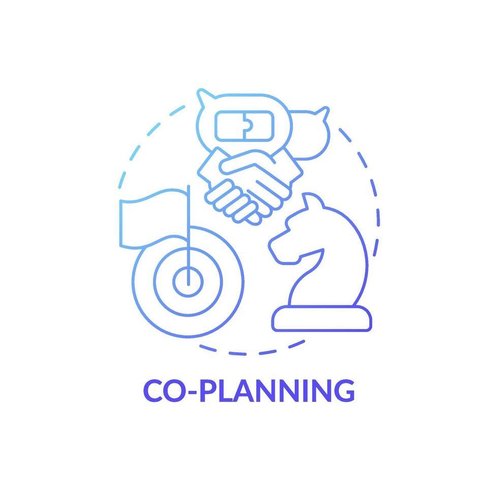 ícone do conceito de co-planejamento vetor