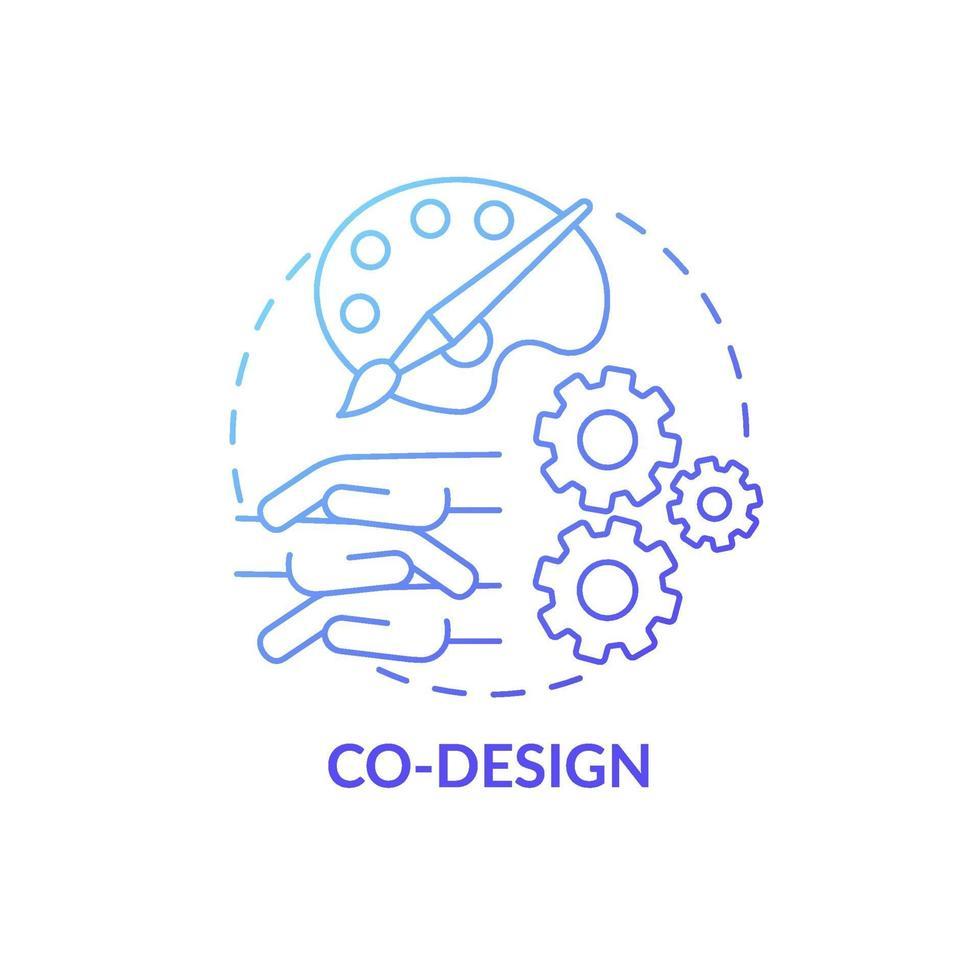 ícone do conceito de co-design vetor