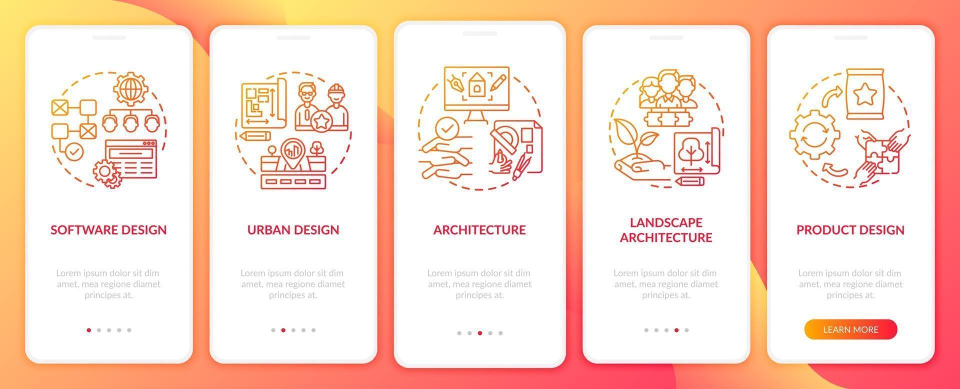 co designar campos de aplicativos para tela de página de aplicativo móvel com conceitos vetor