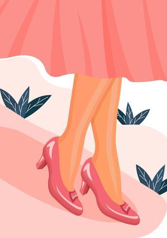 Ilustração do vetor de chinelos de rubi