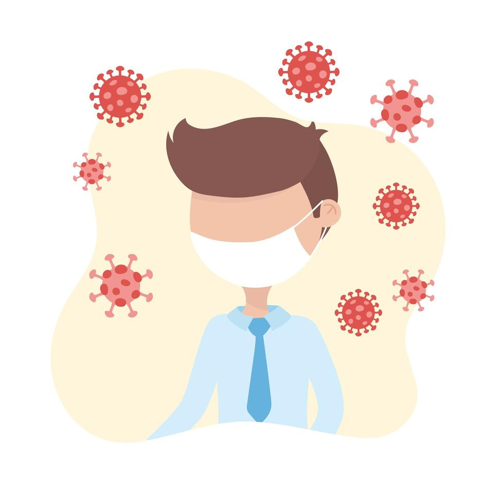 médico com máscara facial para coronavírus vetor