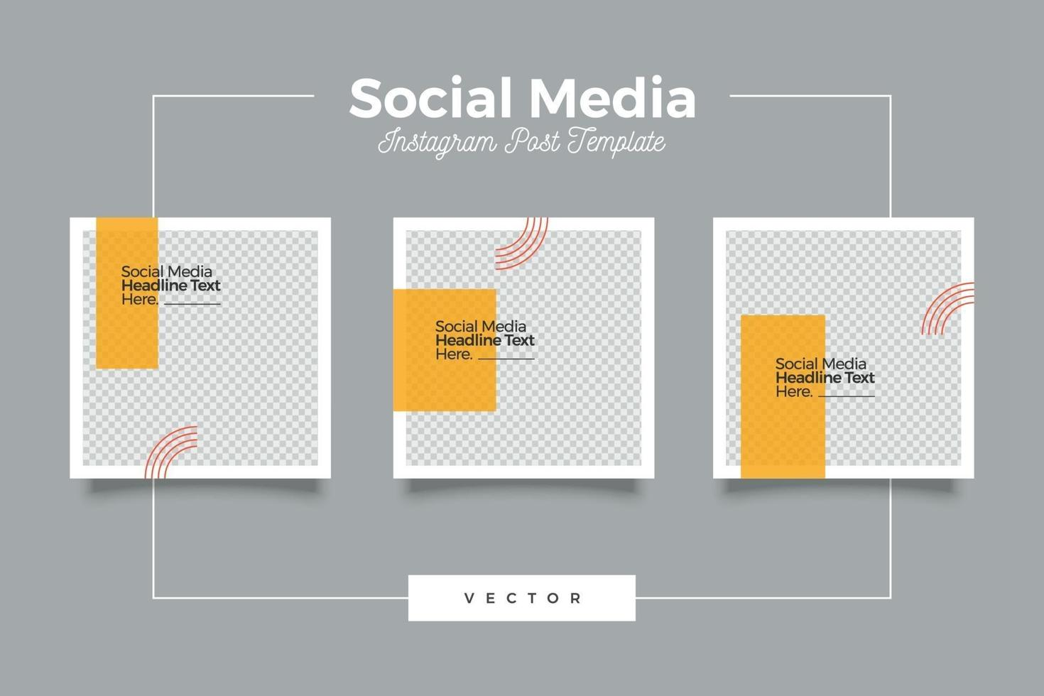 conjunto de modelos de mídia social limpa e moderna vetor