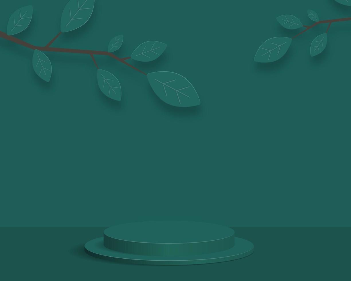pódio do cilindro vazio no fundo mínimo. cena mínima abstrata com formas geométricas. design para apresentação do produto. Ilustração em vetor 3D.