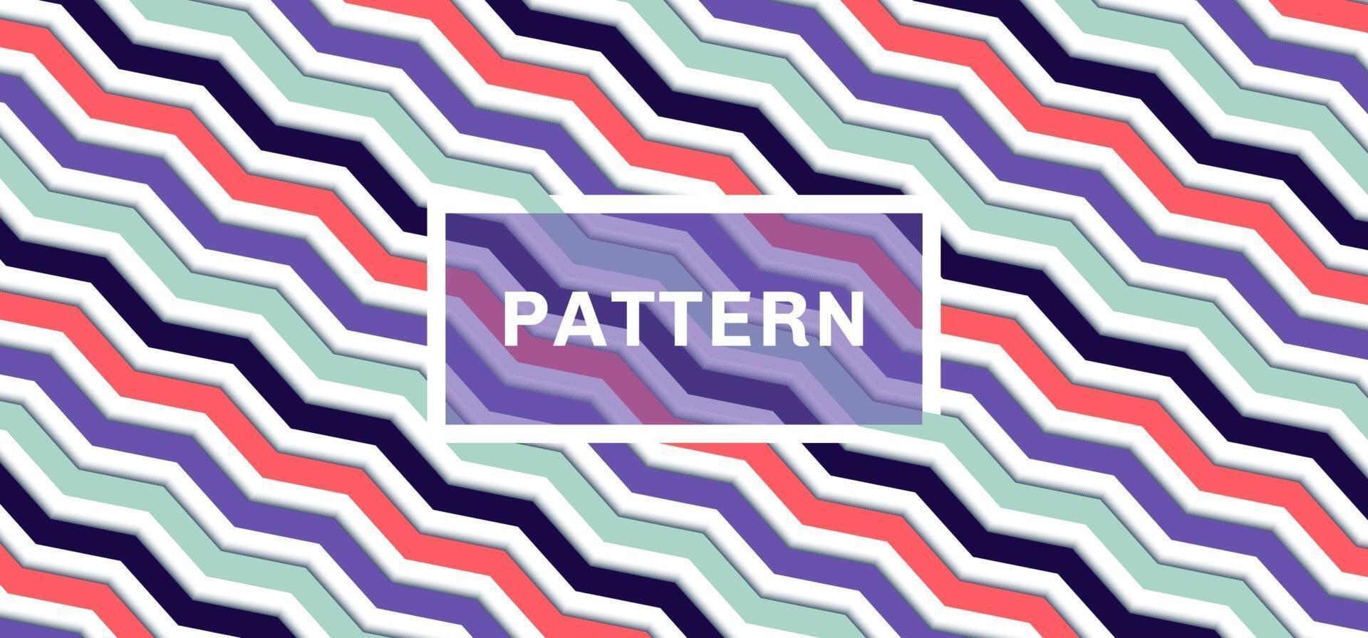 Fundo e textura do padrão de chevron 3D vetor