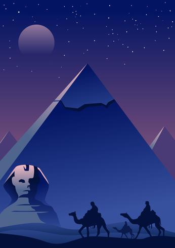 Pirâmides egípcias vetor