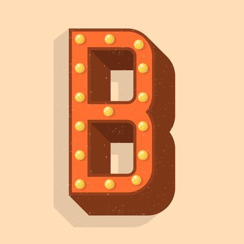 Vintage letra B tipografia Vector