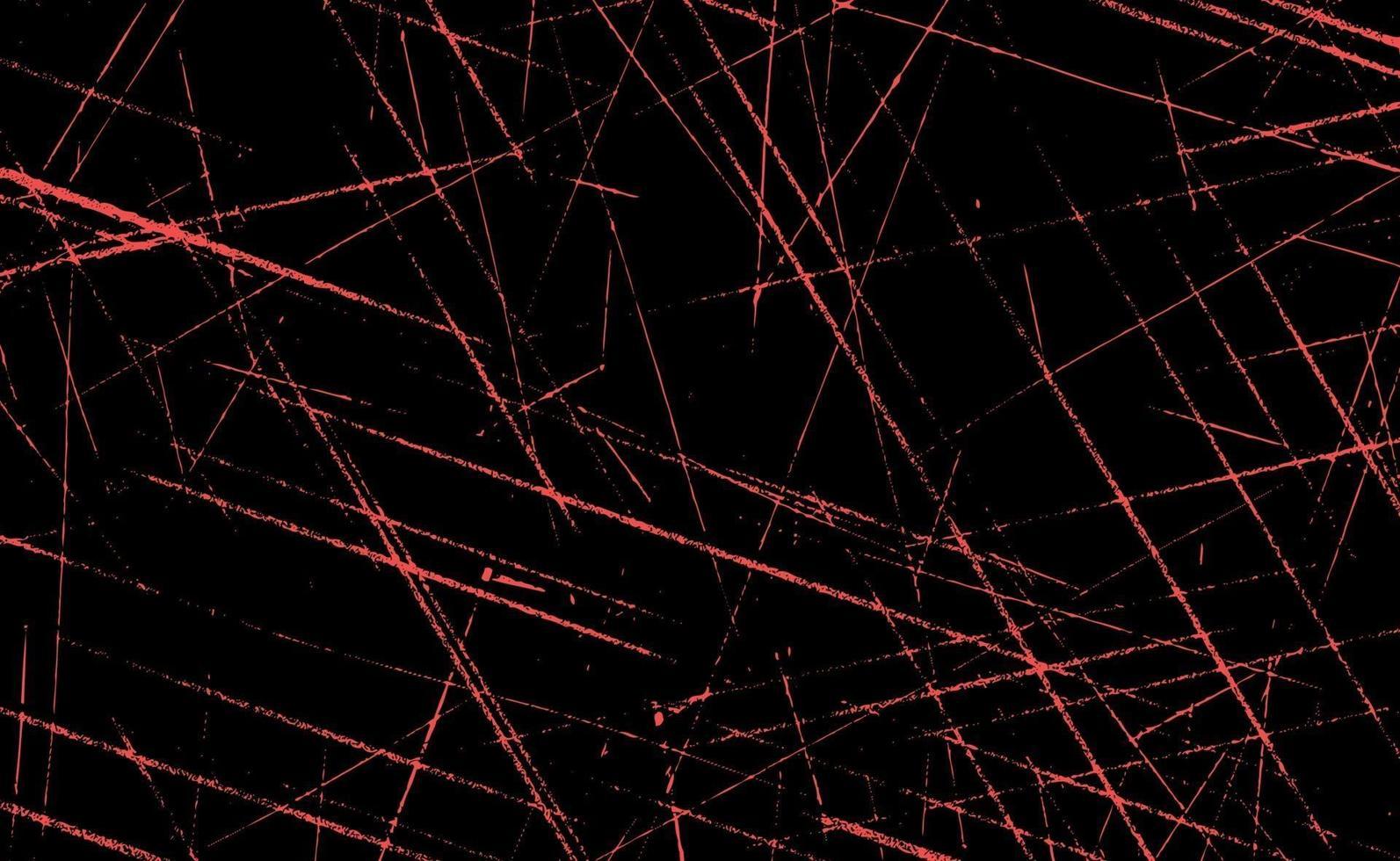 grunge linhas vermelhas e pontos em um fundo vermelho - ilustração vetorial vetor