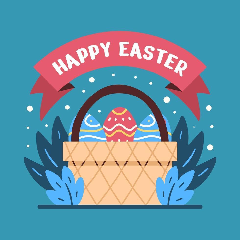 ilustrações coloridas de ovos de páscoa ornamentados vetor